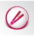 straightener icon hai outline white curl iron vector image