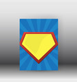 superman poster and brochure design vector image vector image