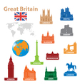 symbols city to great britain vector image
