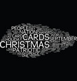 the efffect of september th on christmas cards vector image vector image