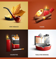 tobacco products design concept vector image