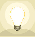 typical classic light bulb vector image
