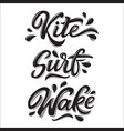 water extreme sport lettering set in graffiti vector image