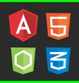 web software js framework vector image