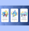 zero waste mobile app onboarding screens vector image
