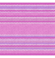 Seamless Pink Color Style Knitted Pattern vector image