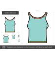 tank t-shirt line icon vector image