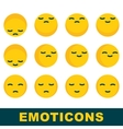 emoticons emotion icons vector image
