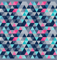 abstract blue geometric seamless pattern vector image vector image