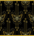 abstract butterfly seamless vector image vector image