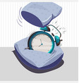 alarm clock sleep vector image vector image