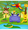 animals in jungle vector image vector image