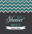 Baby Shower Template vector image