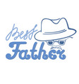 best father with a mustache in a hat and glasses vector image vector image