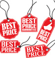 Best price red tag set vector image vector image