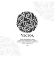 black abstract circle ornament pattern vector image