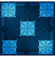 blue geometric triangular background abstract vector image