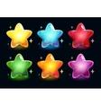 Cartoon colorful glossy stars vector image vector image
