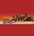cartoon fire extinguishing vector image vector image