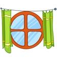 cartoon home window vector image vector image