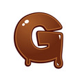 chocolate melt font type vector image vector image