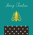 christmas calligraphic design christmas vector image