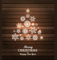 Christmas tree card Winter vector image vector image