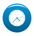 clock modern icon blue vector image vector image