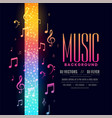 colorful music flyer party background with notes vector image