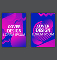 cover design poster with colorful gradients vector image vector image