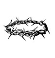 crown thorns in sketch style on white vector image vector image