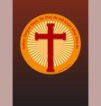 crucifix and gospel vector image vector image
