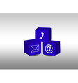 Cubes with communication symbols vector image vector image