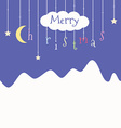 Cute postcard with Christmas vector image