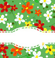 Daisy flower card with doily ribbon vector image vector image