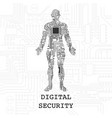digital human security wallpaper vector image vector image