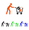 drugs shopping cart flat icon vector image