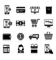 E-commerce icons set black vector image vector image