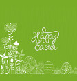 easter eggs ornament background vector image