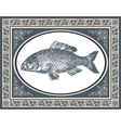 fish antique vector image vector image