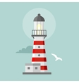 flat lighthouse Cartoon landscape vector image vector image