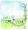 floral flower background vector image