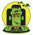 Frankenstein cartoon vector image vector image