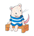 funny cartoon mousy vector image vector image