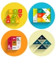 Geometric flat templates icon set vector image vector image