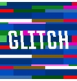 glitch background with text colorful vector image vector image