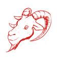 goat animal symbol vector image vector image