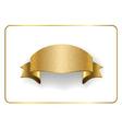 Gold ribbon foil on white vector image vector image