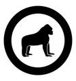 gorilla black icon in circle