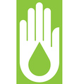 Hand With Ecology on Green vector image vector image